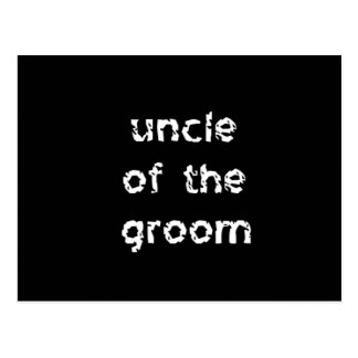 Uncle of the Groom Postcard