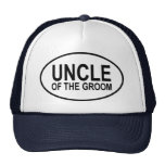 Uncle of the Groom Wedding Oval Trucker Hat