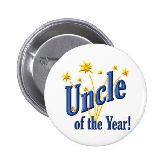 Uncle of the Year 2 Inch Round Button