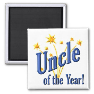 Uncle of the Year 2 Inch Square Magnet