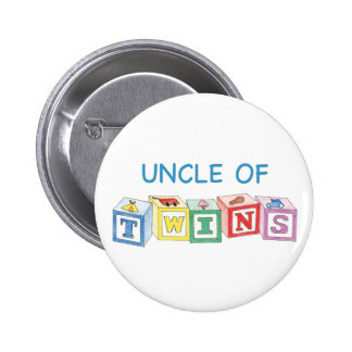 Uncle of Twins Blocks 2 Inch Round Button