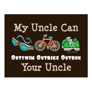 Uncle Outswim Outbike Outrun Triathlon Postcard