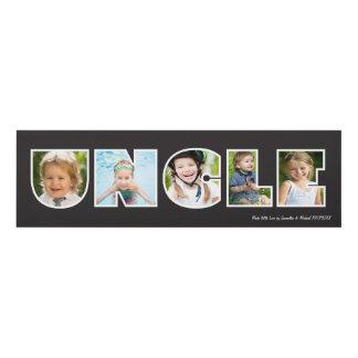UNCLE Photo Gift Black- Custom Panel Wall Art