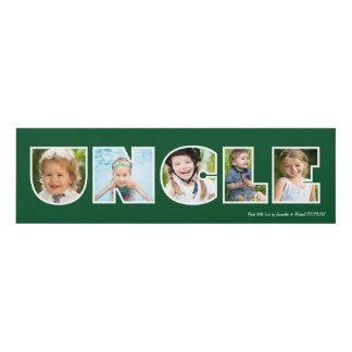 UNCLE Photo Gift Green Panel Wall Art