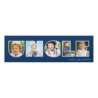 UNCLE Photo Gift Navy Blue- Custom Panel Wall Art