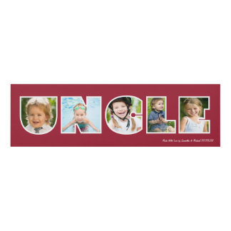 UNCLE Photo Gift Red Panel Wall Art