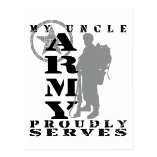 Uncle Proudly Serves - ARMY Postcard