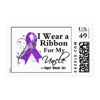 Uncle Purple Ribbon - Pancreatic Cancer Postage Stamps
