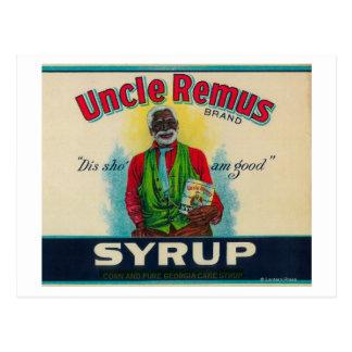 Uncle Remus Syrup LabelCairo, GA Postcard
