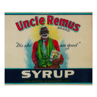 Uncle Remus Syrup LabelCairo, GA Poster