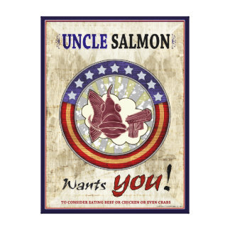 Uncle Salmon Wants You Canvas Print