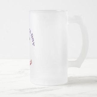 Uncle Sam 16 Oz Frosted Glass Beer Mug