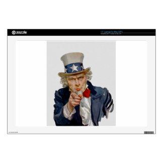 "Uncle Sam 17"" Laptop Skin"