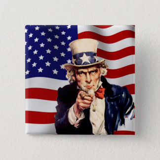 Uncle Sam 1 Button