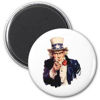 Uncle_Sam 2 Inch Round Magnet