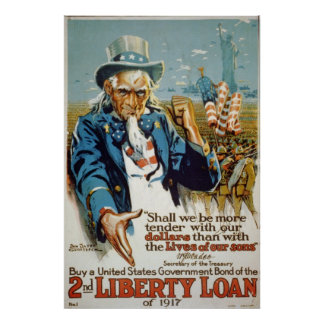 Uncle Sam 2nd Liberty Loan Poster