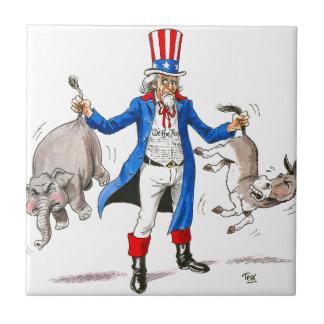Uncle Sam 3 Ceramic Tile