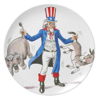 Uncle Sam 3 Dinner Plate