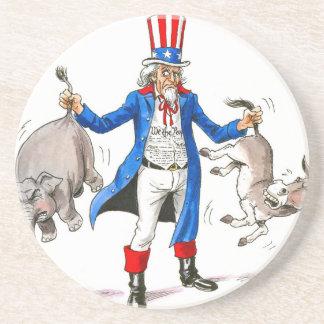 Uncle Sam 3 Drink Coaster
