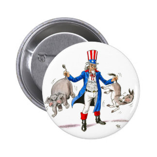 Uncle Sam 3 Pinback Button