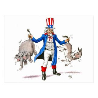 Uncle Sam 3 Postcard