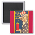Uncle Sam - 4th of July 2 Inch Square Magnet