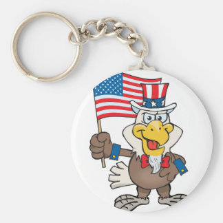 Uncle Sam 4th of July Bald Eagle Keychain