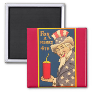 Uncle Sam - 4th of July Refrigerator Magnet