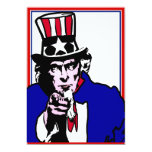 Uncle Sam 5x7 Paper Invitation Card