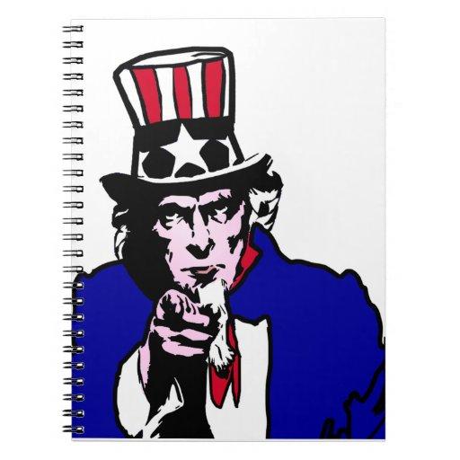 Uncle Sam (Add Background Color) Spiral Notebook