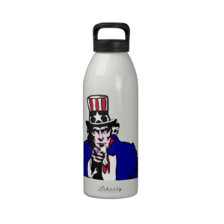 Uncle Sam Add Background Color Water Bottles