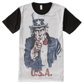 Uncle Sam All-Over Print T-shirt