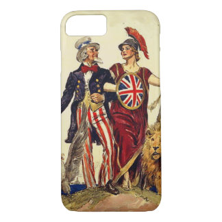 Uncle Sam and Britannia iPhone 7 Case