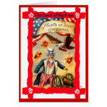 Uncle Sam and firecrackers Card