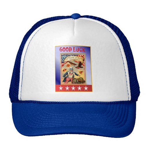 Uncle Sam and firecrackers Trucker Hat