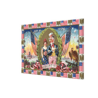 Uncle Sam and Lady Liberty Canvas Print