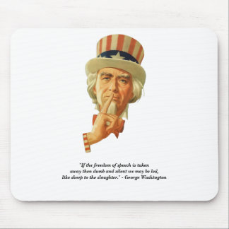 Uncle Sam And Quote By George Washington Mousepad