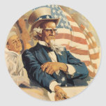 Uncle Sam and the Navy Sticker