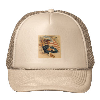 Uncle Sam and the Navy Trucker Hat