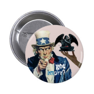 Uncle Sam & angel of death Button