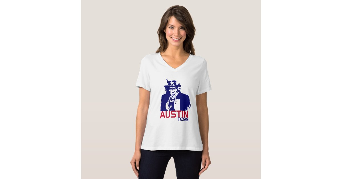 Uncle sam austin texas graphic tee zazzle for Bella salon austin