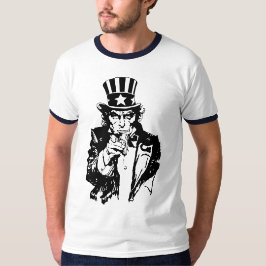Uncle Sam B&W T-Shirt