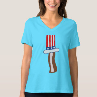 Uncle Sam Bacon Ladies Shirt