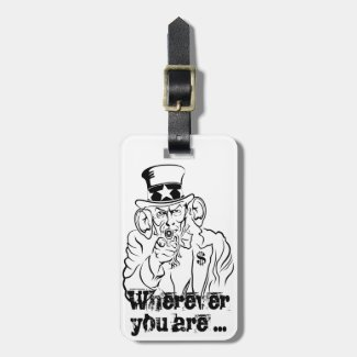 Uncle Sam Bag Tag