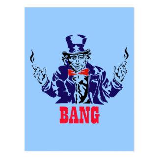 Uncle Sam Bangs Postcard