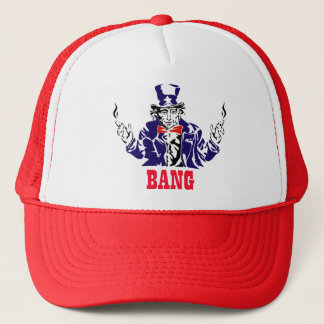 Uncle Sam Bangs Trucker Hat