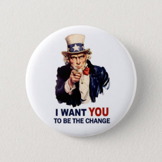 Uncle Sam Be the Change Button