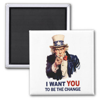 Uncle Sam Be the Change Magnet