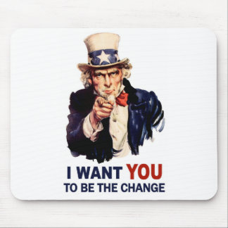 Uncle Sam Be the Change Mouse Pads