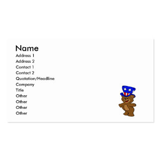 Uncle Sam Bear Business Card Template